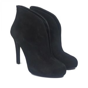 Jessica Simpson Shoes - Jessica Simpson Black Suede Allest Heeled Bootie